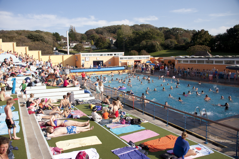 Pool enjoys best season since makeover portishead open - Open air swimming pool portishead ...
