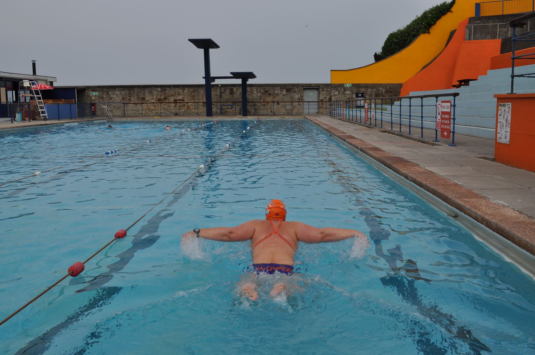 Emma 39 s butterfly 39 fly or dry 39 challenge to raise funds for - Open air swimming pool portishead ...
