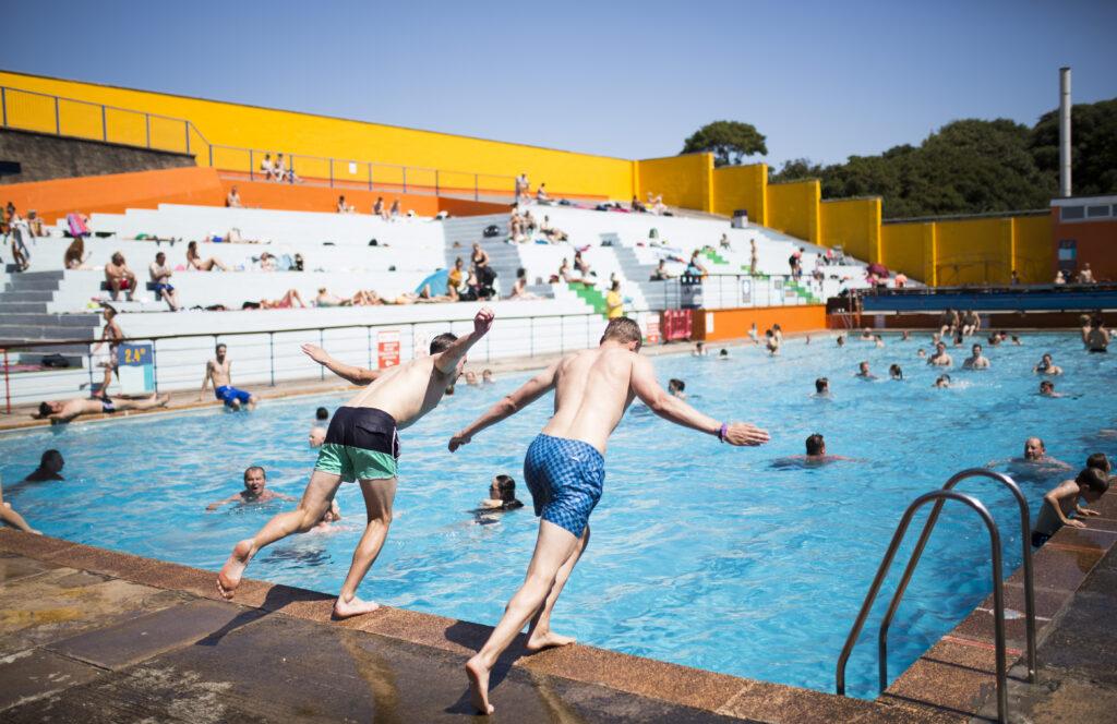 major repair and improvement programme at pool portishead open air pool portishead open air pool